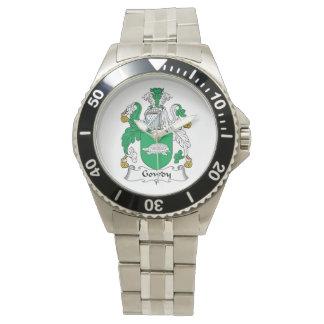Escudo de la familia de Gowdy Reloj De Mano