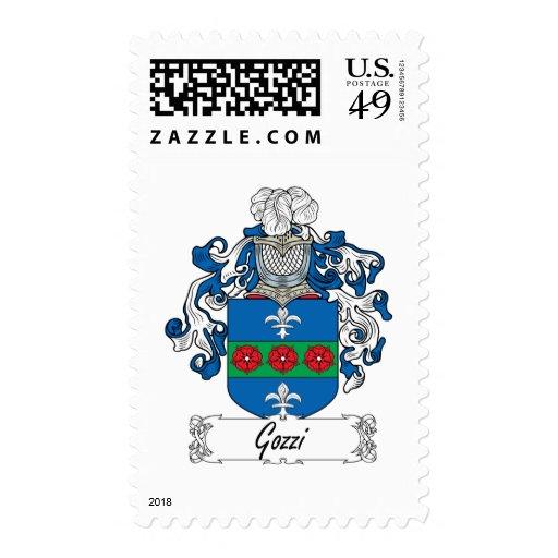 Escudo de la familia de Gozzi Timbres Postales