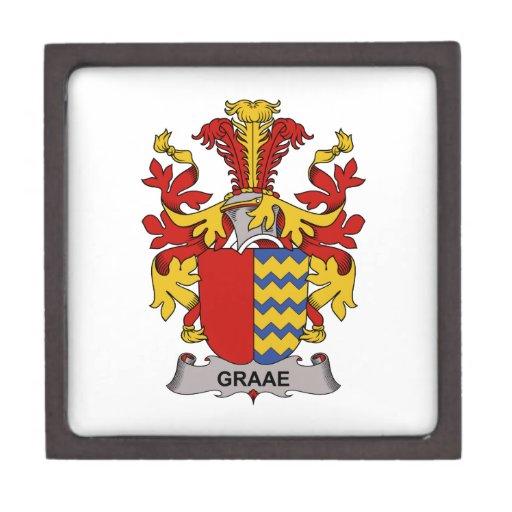 Escudo de la familia de Graae Caja De Regalo De Calidad