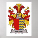 Escudo de la familia de Graae Poster