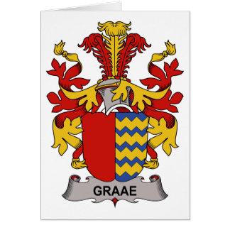 Escudo de la familia de Graae Tarjeta De Felicitación