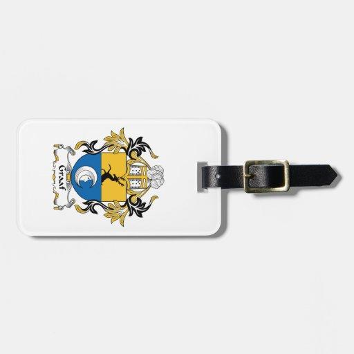 Escudo de la familia de Graaf Etiquetas Maletas
