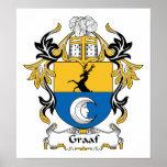 Escudo de la familia de Graaf Posters