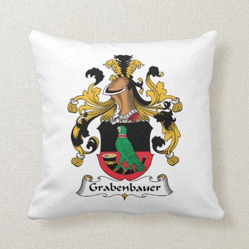 Escudo de la familia de Grabenbauer Almohadas