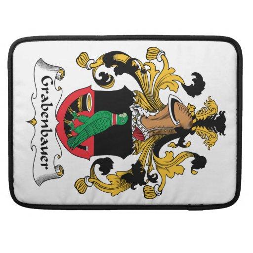 Escudo de la familia de Grabenbauer Funda Para Macbooks