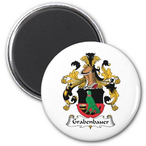 Escudo de la familia de Grabenbauer Imán Para Frigorifico