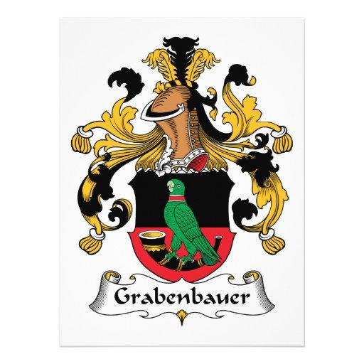 Escudo de la familia de Grabenbauer Invitaciones Personalizada