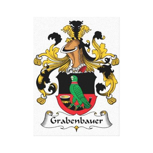 Escudo de la familia de Grabenbauer Impresion En Lona