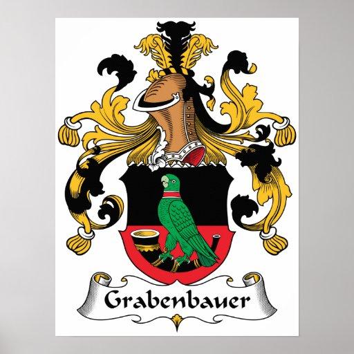 Escudo de la familia de Grabenbauer Posters