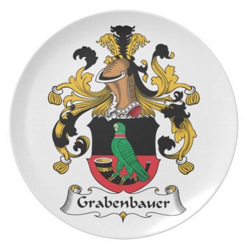 Escudo de la familia de Grabenbauer Plato Para Fiesta