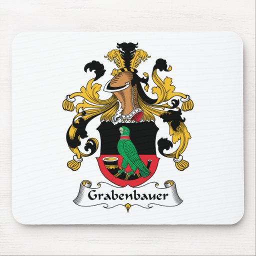 Escudo de la familia de Grabenbauer Tapetes De Ratón