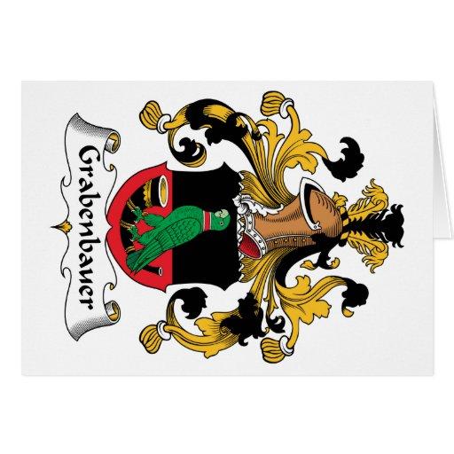 Escudo de la familia de Grabenbauer Tarjeta