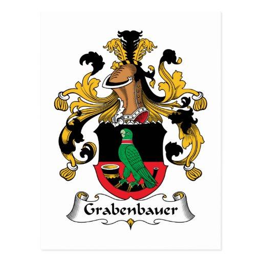 Escudo de la familia de Grabenbauer Tarjeta Postal
