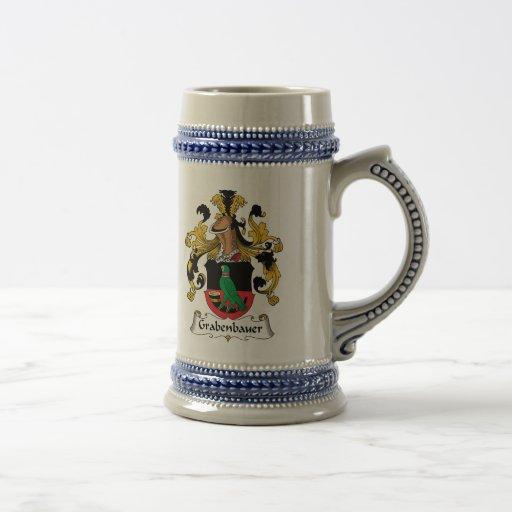 Escudo de la familia de Grabenbauer Tazas De Café