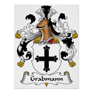 Escudo de la familia de Grabmann Póster