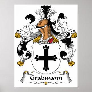 Escudo de la familia de Grabmann Posters
