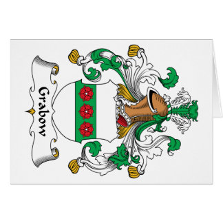 Escudo de la familia de Grabow Felicitacion