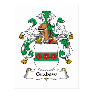 Escudo de la familia de Grabow Postal