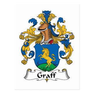 Escudo de la familia de Graff Tarjeta Postal