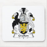 Escudo de la familia de Grafton Tapetes De Ratón