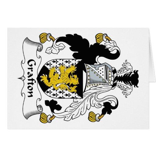 Escudo de la familia de Grafton Tarjetón