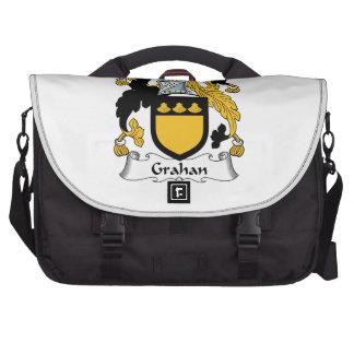 Escudo de la familia de Grahan Bolsas Para Ordenador