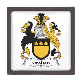 Escudo de la familia de Grahan Caja De Recuerdo De Calidad