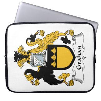 Escudo de la familia de Grahan Funda Computadora