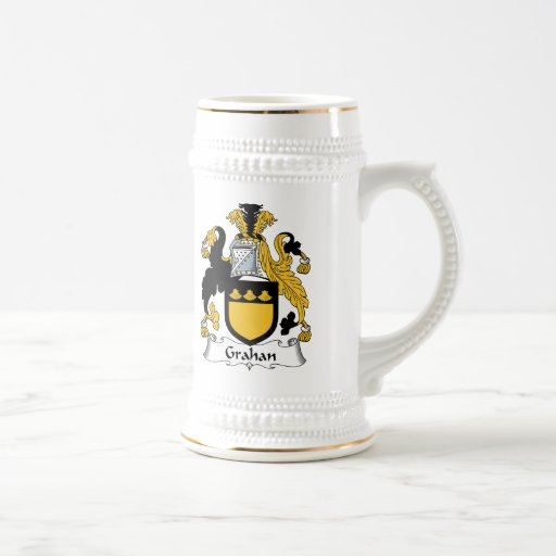 Escudo de la familia de Grahan Jarra De Cerveza
