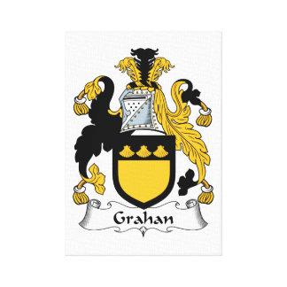 Escudo de la familia de Grahan Impresión En Lona Estirada