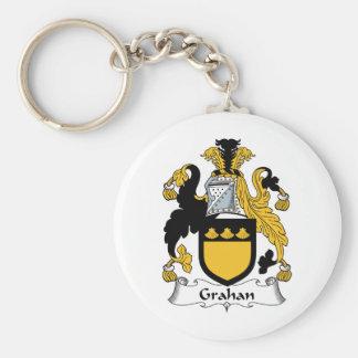Escudo de la familia de Grahan Llaveros Personalizados