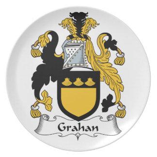 Escudo de la familia de Grahan Plato Para Fiesta