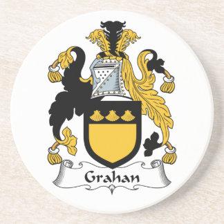 Escudo de la familia de Grahan Posavasos Personalizados