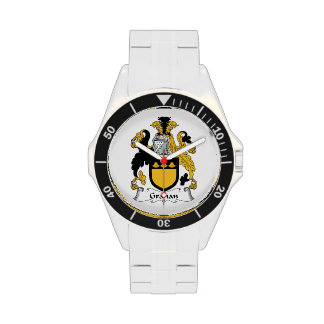 Escudo de la familia de Grahan Relojes De Mano