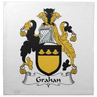 Escudo de la familia de Grahan Servilletas