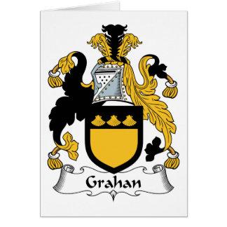 Escudo de la familia de Grahan Tarjetas