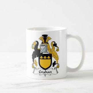 Escudo de la familia de Grahan Tazas De Café