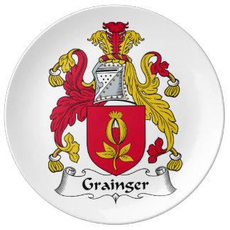 Escudo de la familia de Grainger Platos De Cerámica