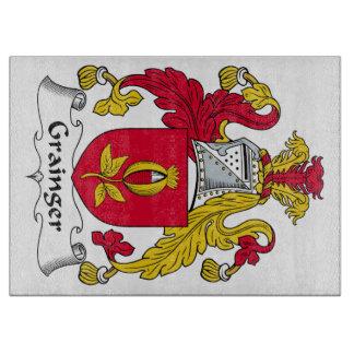 Escudo de la familia de Grainger Tabla De Cortar