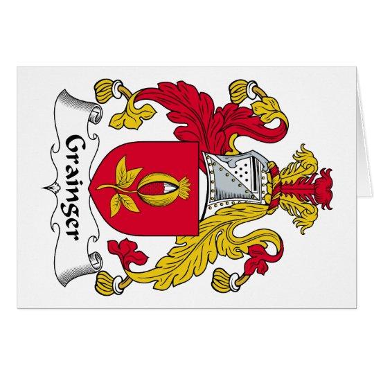 Escudo de la familia de Grainger Tarjeta De Felicitación