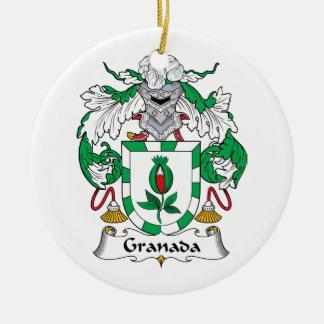 Escudo de la familia de Granada Ornaments Para Arbol De Navidad