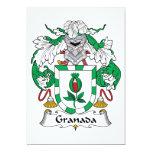 Escudo de la familia de Granada Invitación 12,7 X 17,8 Cm