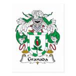 Escudo de la familia de Granada Postal