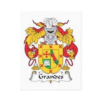 Escudo de la familia de Grandes Lienzo Envuelto Para Galerias