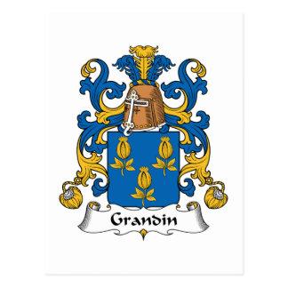 Escudo de la familia de Grandin Tarjetas Postales