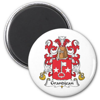 Escudo de la familia de Grandjean Imán Redondo 5 Cm