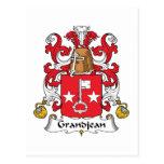 Escudo de la familia de Grandjean Postal