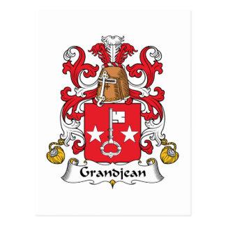 Escudo de la familia de Grandjean Postales