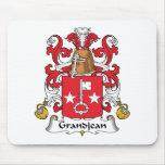 Escudo de la familia de Grandjean Alfombrilla De Ratón