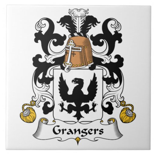 Escudo de la familia de Grangers Azulejo Cerámica